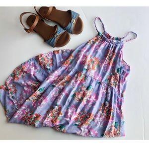 Girls Floral Maxi Dress